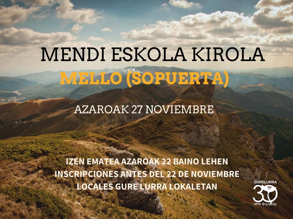 Zorrotzako Mendizaleak al monte Mello