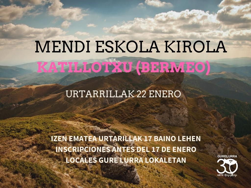 Zorrotzako Mendizaleak al monte Katillotxu