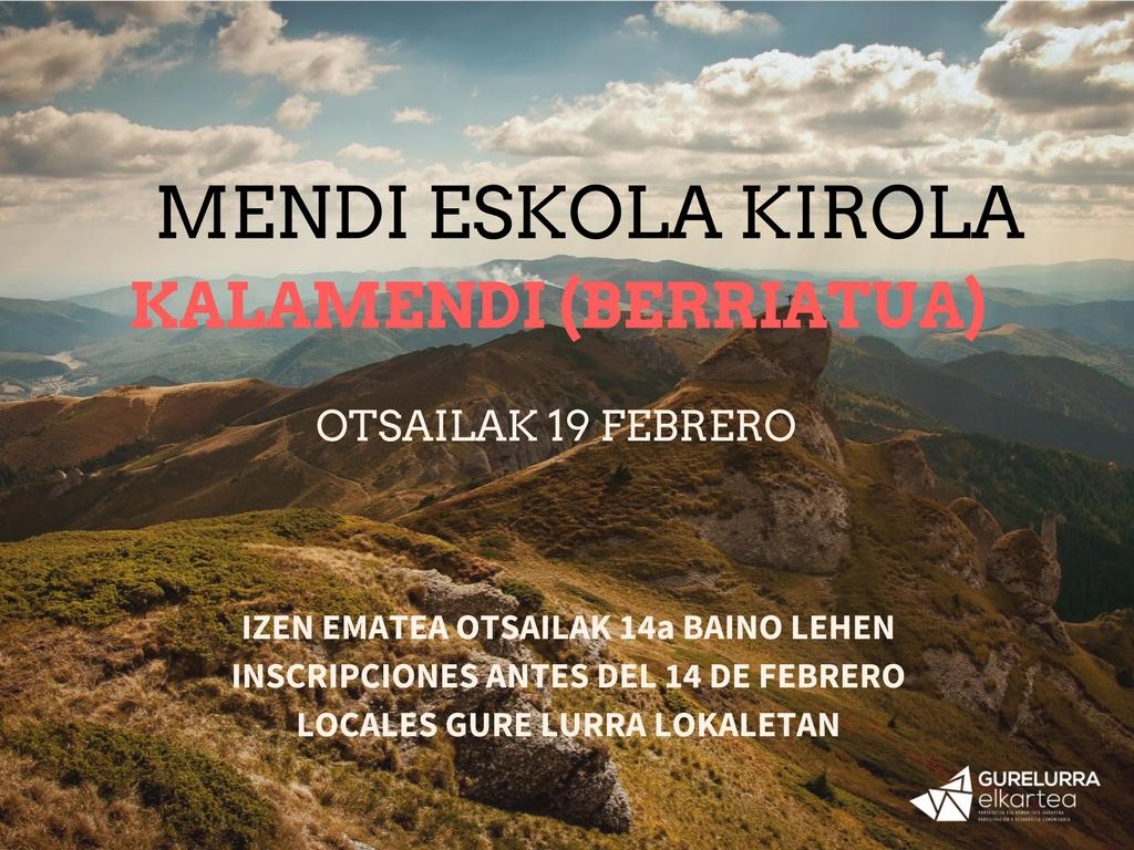 Zorrotzako Mendizaleak al monte Kalamendi