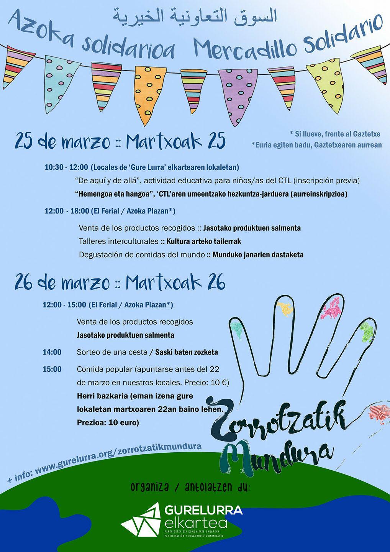 Todo preparado para el Mercadillo Solidario del fin de semana del 25 y 26 de marzo