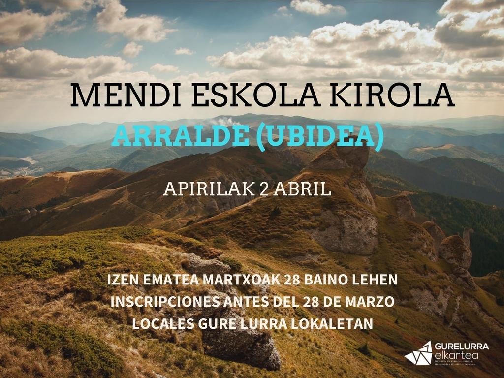 Zorrotzako mendizaleak al monte Arralde