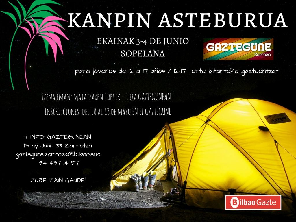 El Gaztegune organiza un fin de semana en Sopelana para jóvenes de 12 a 17 años