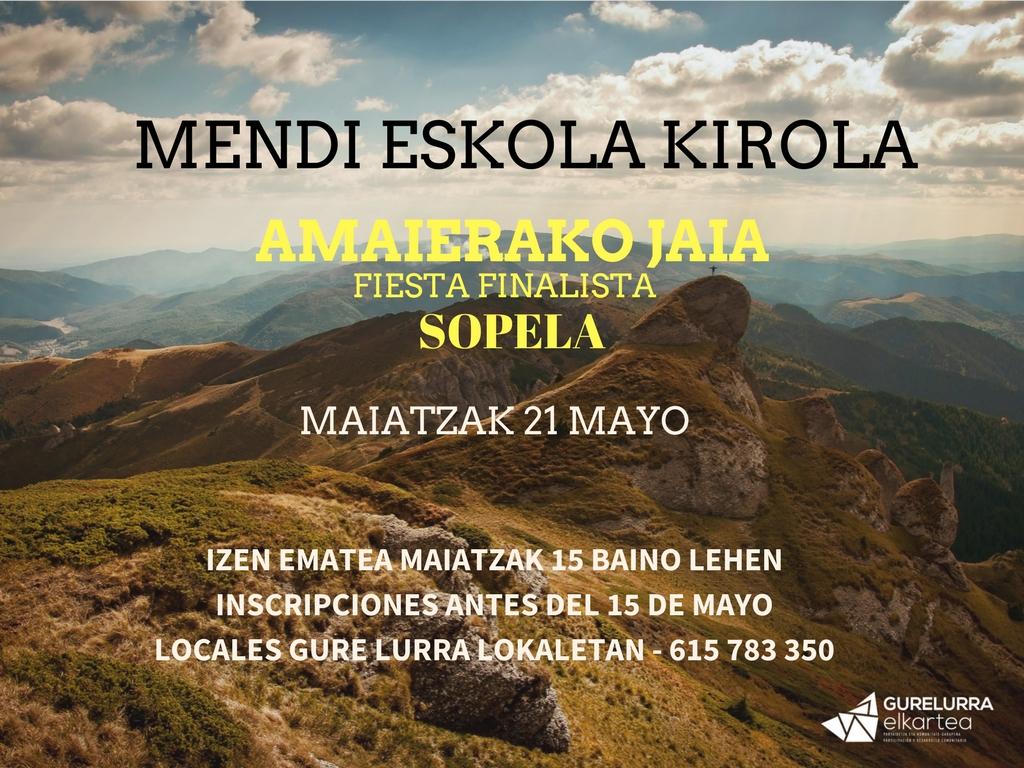 Zorrotzako Mendizaleak cierra el curso con una fiesta en Sopela