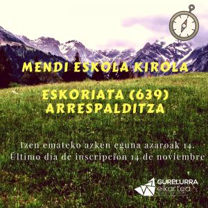 Zorrotzako Mendizaleak irán el próximo 19 de noviembre a Arrespalditza a subir el monte Eskorieta