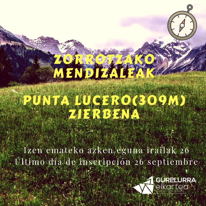 Primera salida de Zorrotzako Mendizaleak: Punta Lucero (309M), defendiendo el Abra