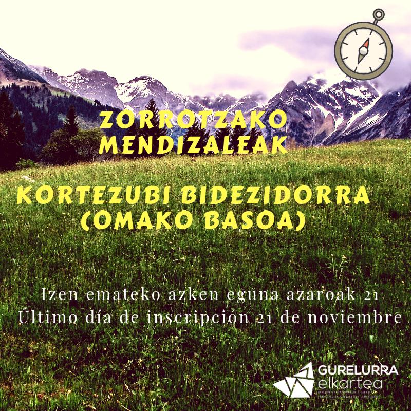 Zorrotzako  Mendizaleak:  Kortezubiko  bidezidorrak,  Omako  basoa
