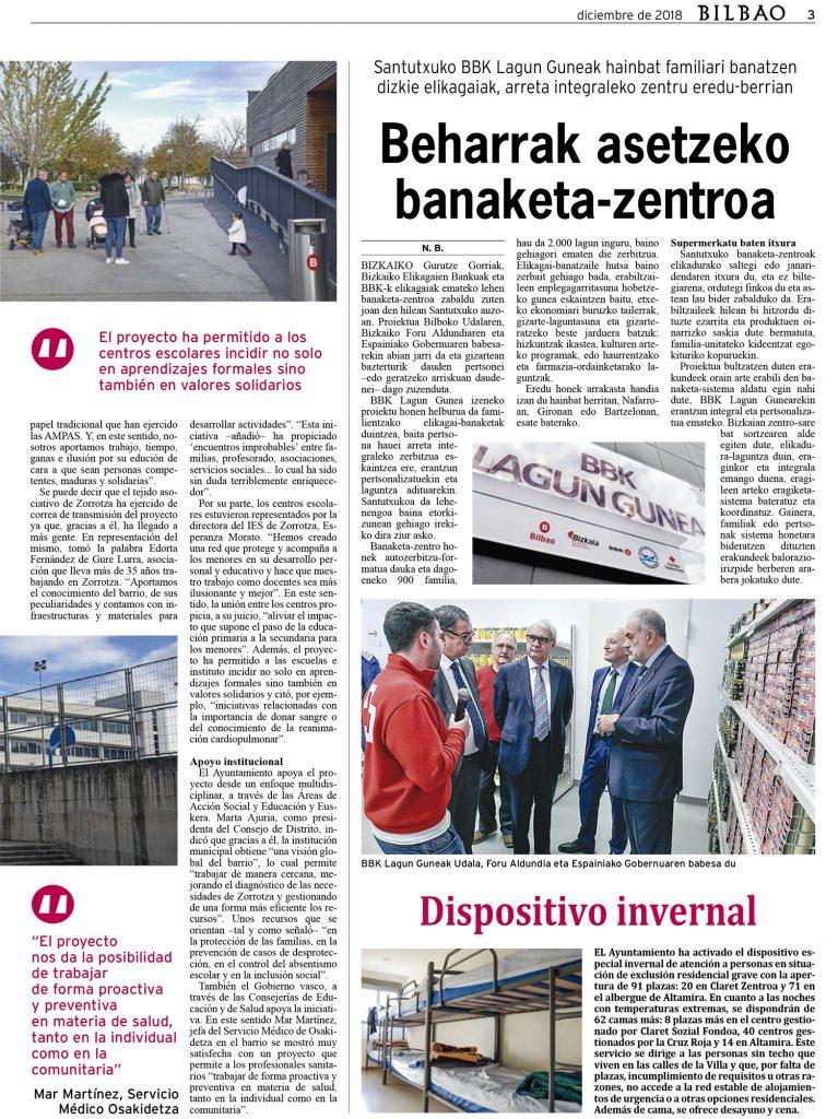 Periódico Bilbao: «El ejemplo de Zorrotza»