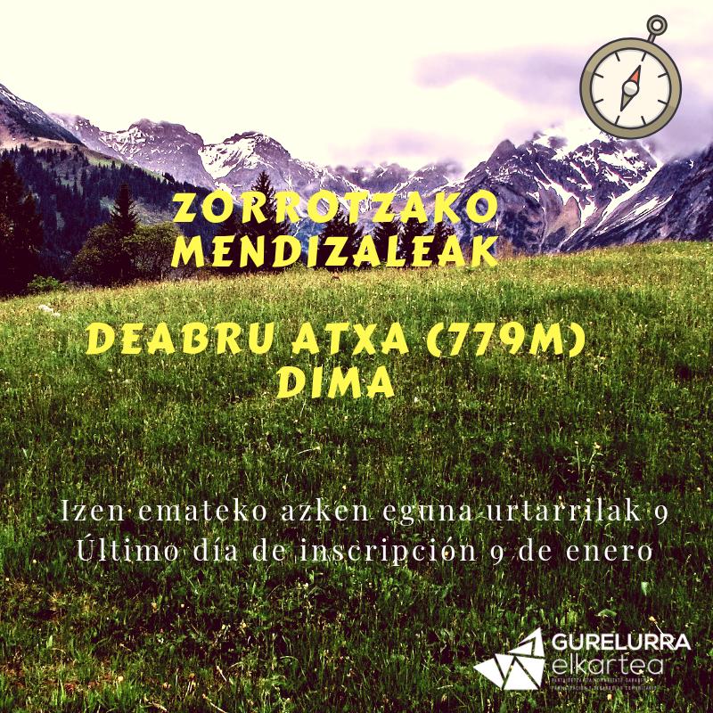 Zorrotzako Mendizaleak: Deabru Atxa (779m), donde los demonios jugaban entre peñascos