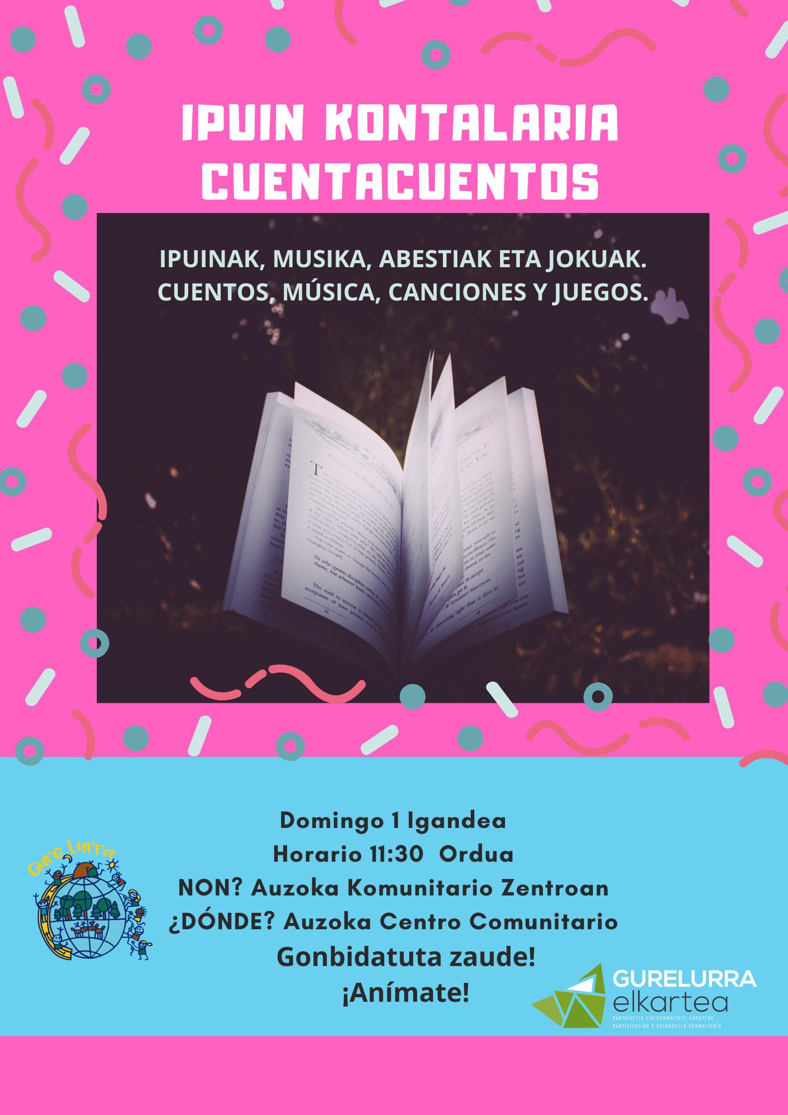 Día del Euskera: cuentacuentos sobre la mitología, el idioma y la cultura vasca.