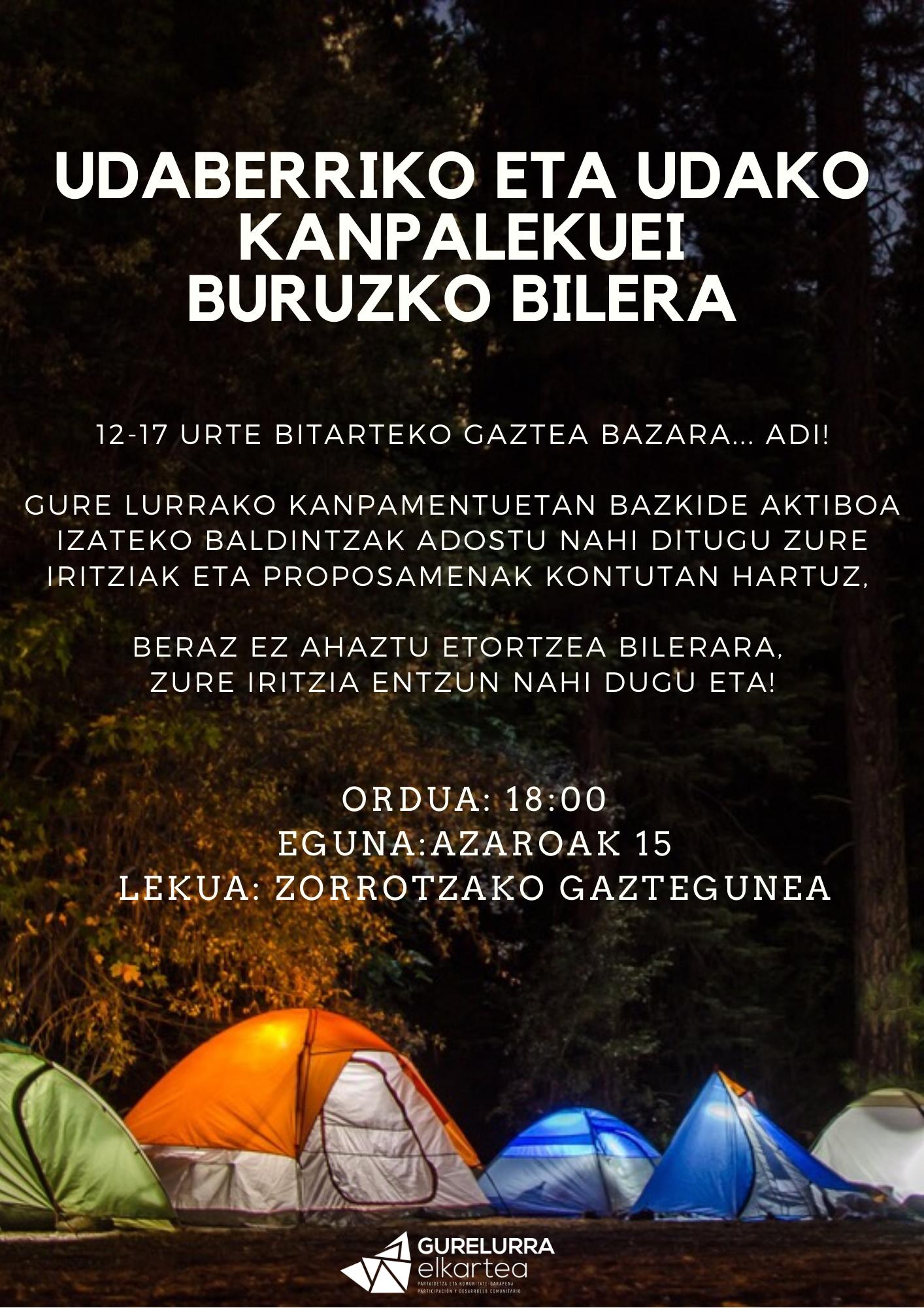 Reunión informativa sobre el campamento de primavera y verano 2020