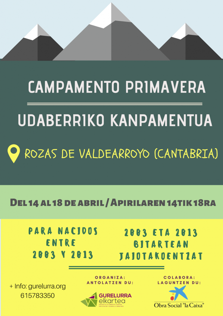 Udaberriko kanpamentua: Arroyo 2020 (Kantabria)